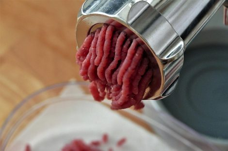 A Meat Grinder Works By Pushing Meat Through Sharp Blades