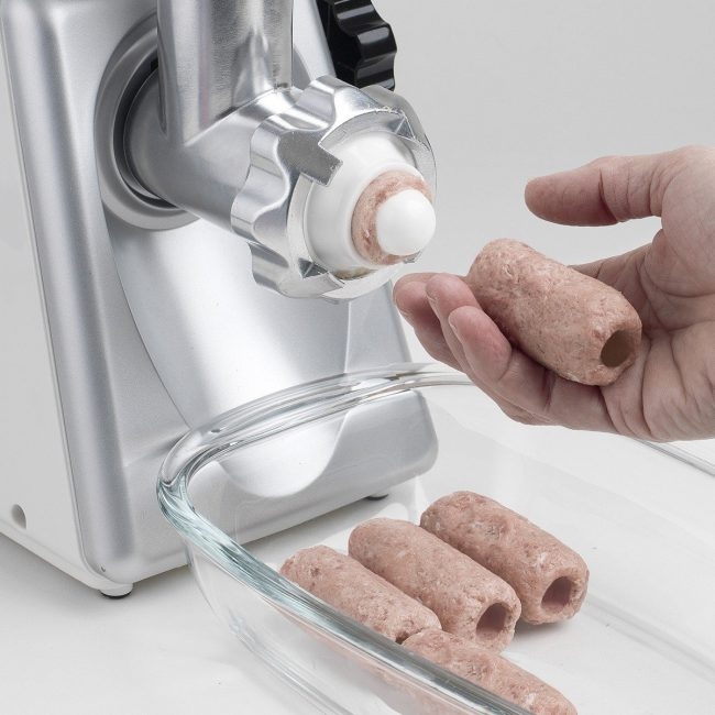 Kubbe Attachment On A Meat Grinder