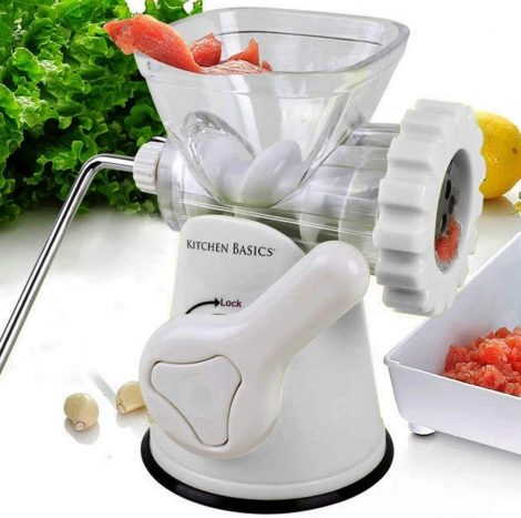 Suction base manual meat grinder